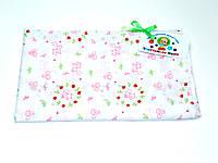 Ситцевая  пеленка (белая с розовыми котиками)