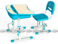 Комплект мебели Mealux Evo-02, Evo-02 B - столешница клен / цвет пластика голубой (Evo- 02 B)