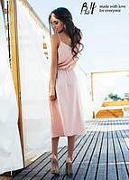 Женское платье ТМ B&H в нежном цвете ниже колена