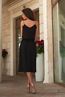 Женское платье ТМ B&H в черном  цвете ниже колена