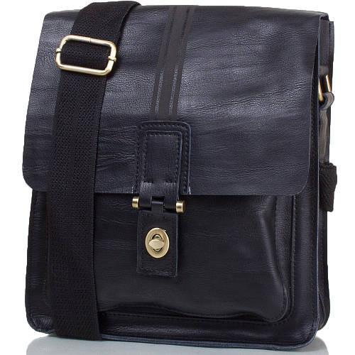 Дизайнерская мужская сумка из натуральной кожи ETERNO (ЭТЭРНО) TU5823-black черный
