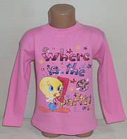 """Реглан для девочек""""ТВИТТИ"""" 6 лет, 100% хлопок.Детская одежда оптом"""