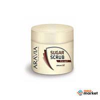 Шугаринг Aravia Сахарный скраб для тела Aravia Professional с маслом миндаля 300 мл
