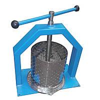 Пресс для сока 6 л: корзина 200х315 мм из нержавейки, ручной привод, 16,5 кг