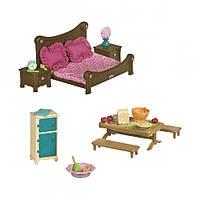 Детский игровой набор  для кукол Sylvanian Families Спальня и столовая (мебель)