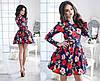 Платье женское с поясом и фатиновый подъюбник в комплекте цветы, фото 2