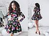 Платье женское с поясом и фатиновый подъюбник в комплекте цветы, фото 5
