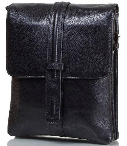 Функциональная мужская сумка из натуральной кожи TOFIONNO (ТОФИОННО) черный