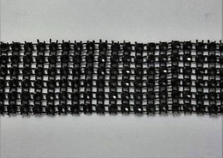 """Лента для декора """"Черные камни"""" h-3 см"""