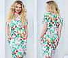 Платье женское цветы полу батал, фото 2