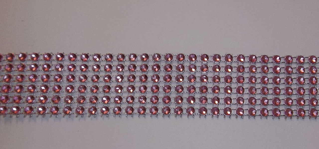 """Лента для декора """"Розовые камни"""" h-3 см"""