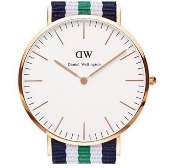 Часы с тканевым ремешком (green-gold) - гарантия 6 месяцев