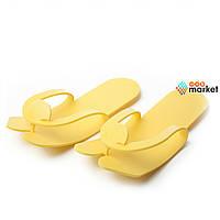 Одноразовая одежда Rio Тапочки-вьетнамки Rio 4 мм желтые 25 пар