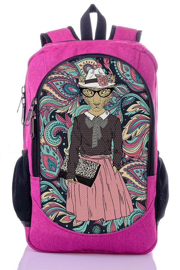 d4bce1f2e85e Рюкзак школьный, женский с принтом Модница. - Интернет-магазин рюкзаки и  сумки Авось