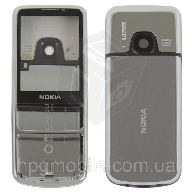Корпус для Nokia 6700 Classic, серебристый Silver, оригинал