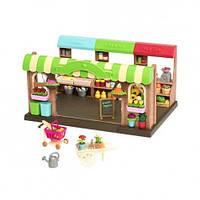 """Детский игровой набор Woodzeez """" Фермерский рынок"""" мебель  для семьи зверят"""