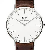 Кварцевые часы Bristol brown-silver