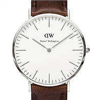 Кварцевые часы Bristol brown-silver - гарантия 6 месяцев