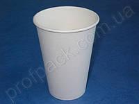 Стакан бумажный Белый, 340 мл, 50 шт/уп (кр80)