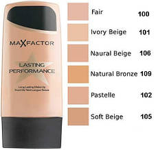 Тональный крем Max Factor Lasting Performance № 100,101,102,105,106,109