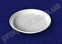 Тарелка столовая, одноразовая, белая, 205 мм, 100 шт/уп