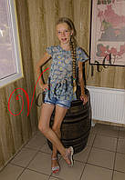 Детская шифоновая блуза с оборочками
