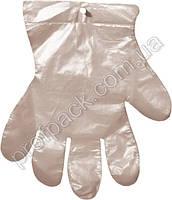 Перчатки полиэтиленовые одноразовые, 7мкм, 100 шт/уп