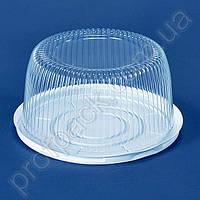 Упаковка ПС-24 для торта из полистирола, d=250 мм, 200 шт/уп