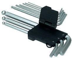 Набор ключей имбусовых с шаром Technics 9шт. 2-10мм, удлинненые