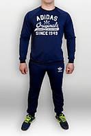 Спортивный костюм Adidas, Original, с большим лого, темно-синий