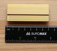 Бейдж металлический с магнитом, Золотистый