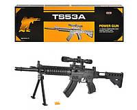 Автомат TS53A стреляет пульками, есть лазер и фонарик