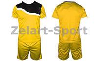 Форма футбольная без номера подростковая (L) (PL, р-р M-XL, желтый, шорты желтые)