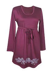 Платье Хризантемы,классика,отрезное,французский трикотаж