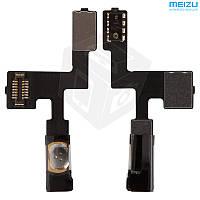 Шлейф для Meizu MX2, кнопки включения, с компонентами (оригинал)