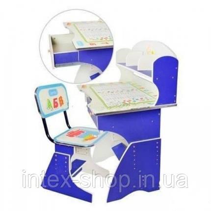 Детская парта со стульчиком трансформер Bambi HB 2882-01 (стол-парта растишка), фото 2