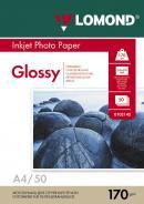 Фотобумага Lomond глянцевая ( формат А4 , плотность 170 г/м2 односторонняя глянцевая ) 50 листов