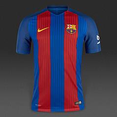 Футбольная форма 2016-2017 Барселона (Barcelona), Nike, домашняя, сине-гранатовая