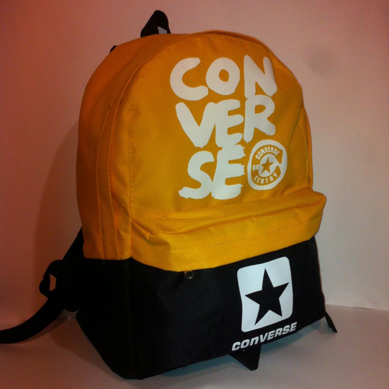 Рюкзак молодежный Сonverse, Конверс черный с желтым ( код: IBR071BY )