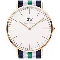 Кварцевые часы DW green-gold - гарантия 6 месяцев