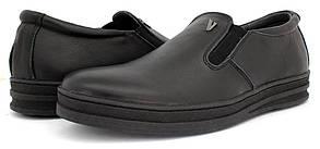 Мужские ботинки Konors черные кожа