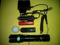 Набор велофонарь с аккумулятором, зарядным устройством, прикуривателем и т.д.