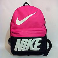 Рюкзак молодежный Nike, Найк черный с розовым ( код: IBR072BP )