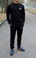 Спортивный костюм найк черный, реглан, хлопковый к657