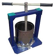 Пресс для выжимки сока Виллен 6 л, для винограда, винтовой, нержавеющая сталь