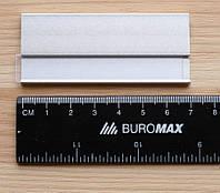 Бейдж металлический с магнитом, Серебро.
