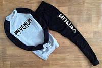 Спортивный костюм Venum, серый цвет туловища, черные рукава и штаны, к748