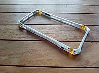 Алюминиевый бампер ElementCase Sector FE для iPhone 6/6s white+gold