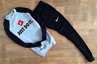 Спортивный костюм Nike серо-черный, для спорта, к2622