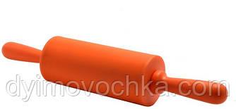 Скалка силиконовая с крутящейся ручкой Empire ЕМ 8981, 225 мм